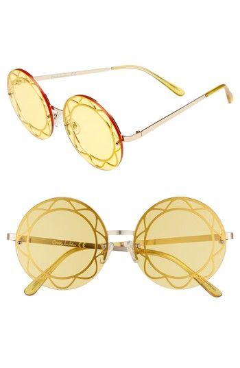 cc7eddecb16a Free shipping and returns on Circus by Sam Edelman 55mm Round Sunglasses at  Nordstrom.com. Wire accents highlight the round