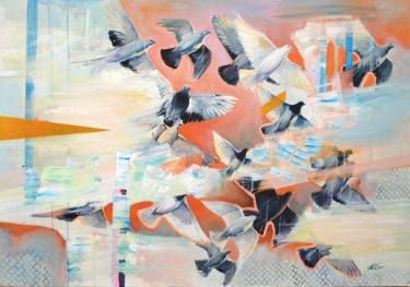 """Saatchi Art Artist Milena Gaytandzhieva; Painting, """"Migration"""" #art"""