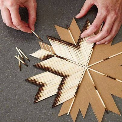 amazing matches art...cool looking. For when i'm itching to do something intricate.