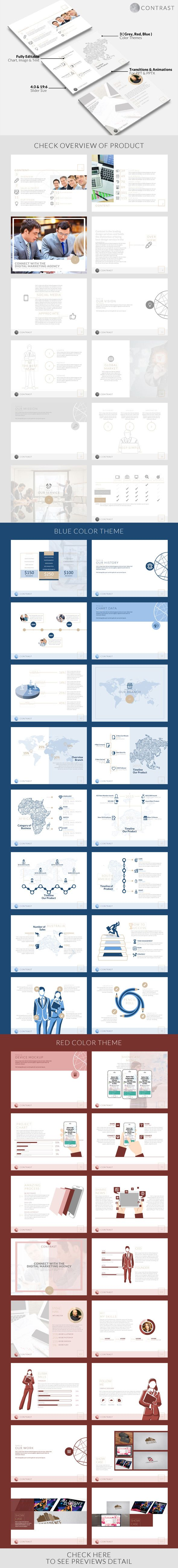 Contrast Powerpoint Template (PowerPoint Templates)