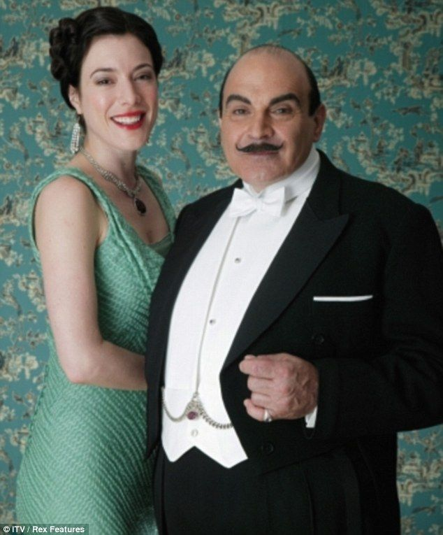 Suchet with Jaime Murray as Ruth Kettering in 2006's The Mystery Of The Blue Train