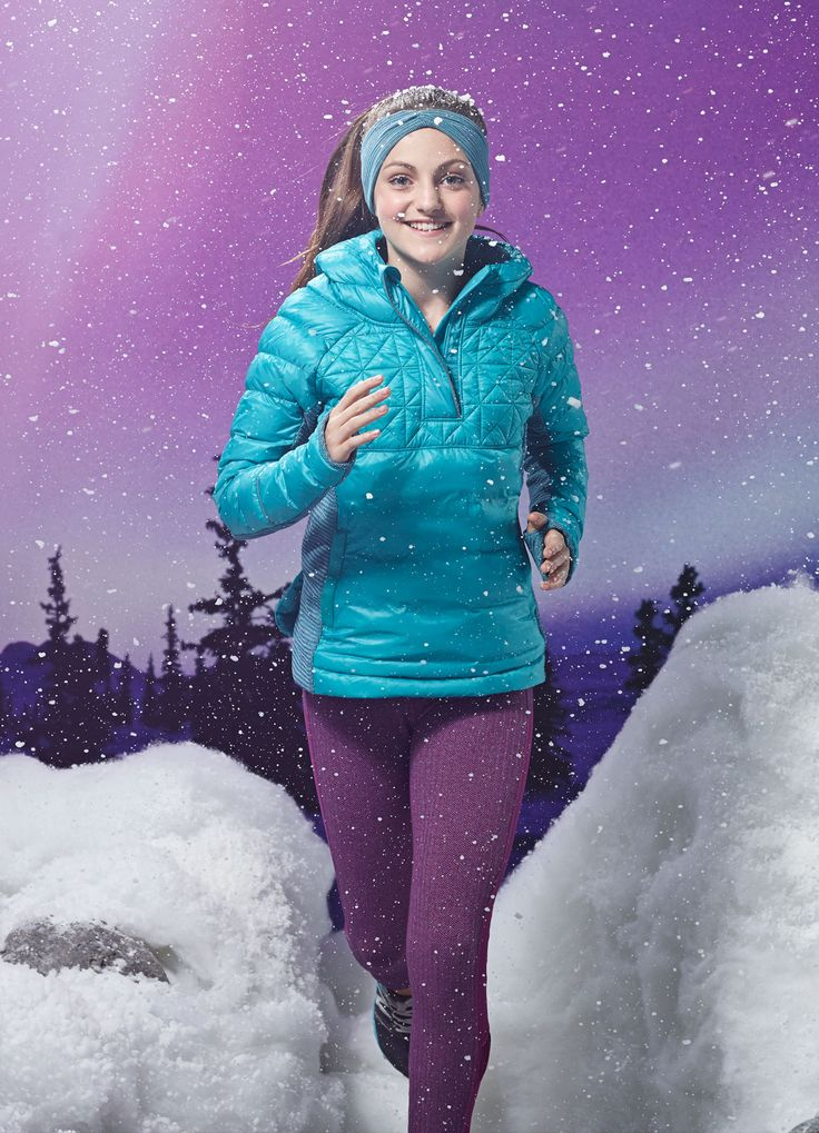 four–way stretch Rulu™ side panels make this jacket easy to pull on and off. | Up To Snow Good Pullover