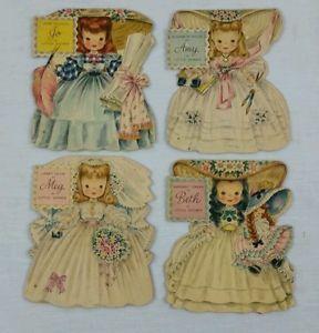 "Unused SET OF 4 Hallmark Greeting Cards 1949 Movie ""Little Women ..."