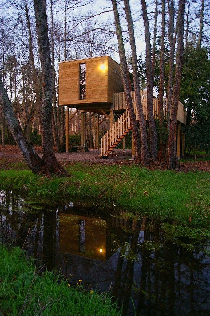 Cabañas en árboles, alojamiento turismo rural en cabañas de madera.  (Galicia, España) #cabanitasdelbosque #turismorural http://cabañitasdelbosque.com