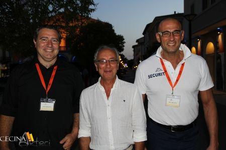 Alessandro Apicella tra gli addetti alla sicurezza