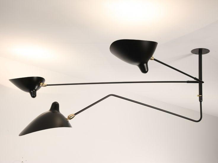 S2B1C   Deckenlampe By Serge Mouille Design Serge Mouille ...