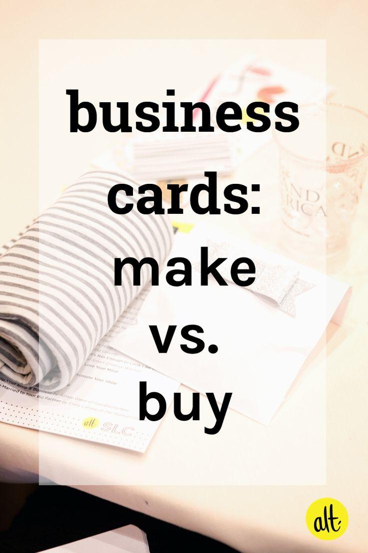 Business Cards: Make vs. Buy — Alt Summit