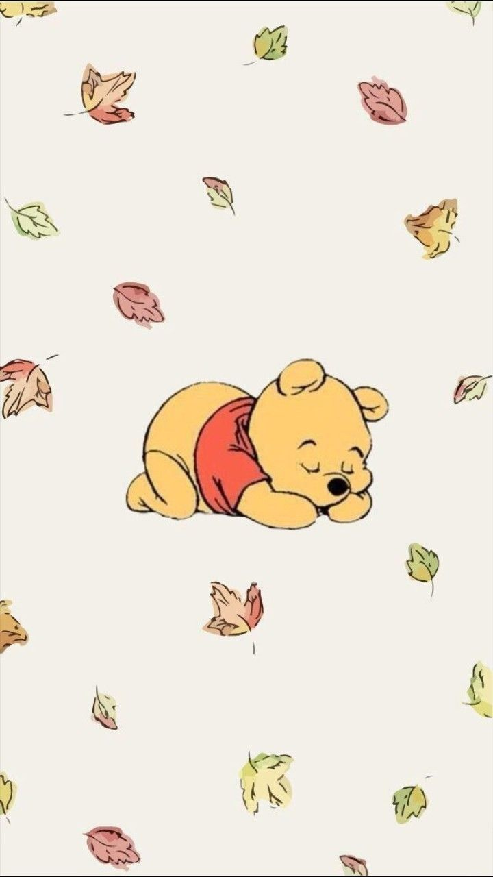Winnie The Pooh Illustration Fall Cute With Images