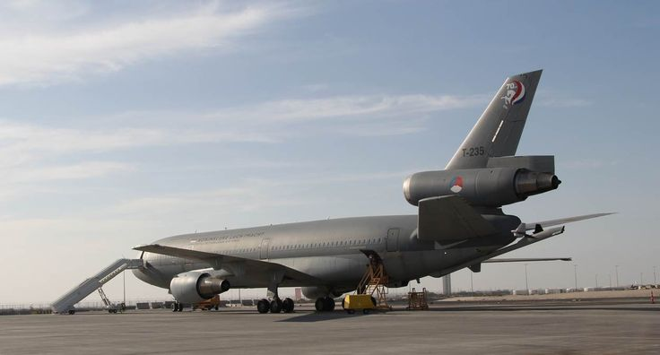 Royal Netherlands Air Force KDC-10 on the base in Kuwait.