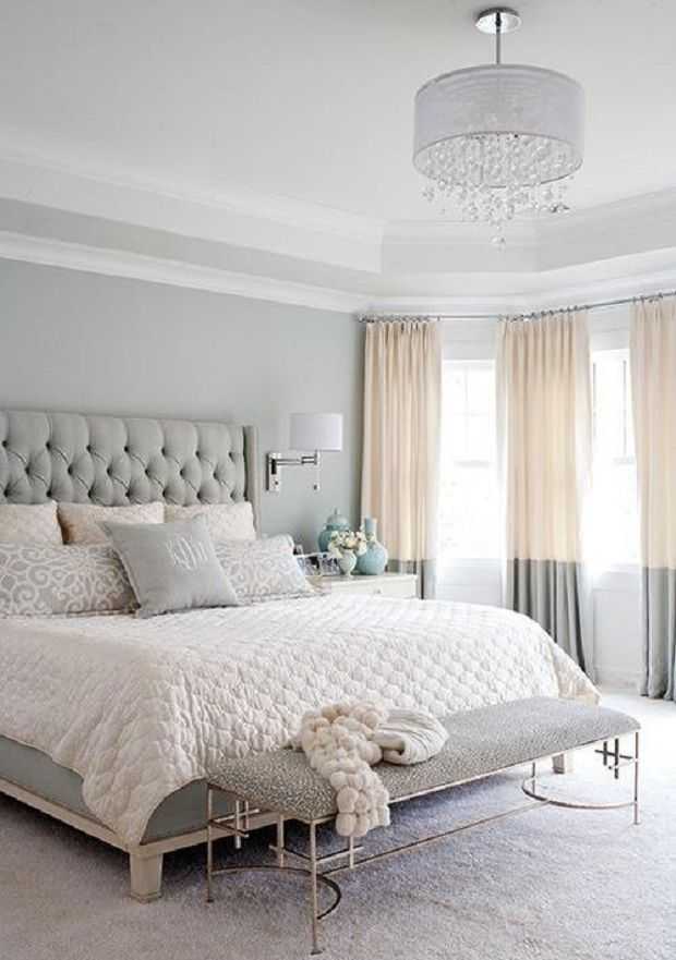 Grey and gold bedroom