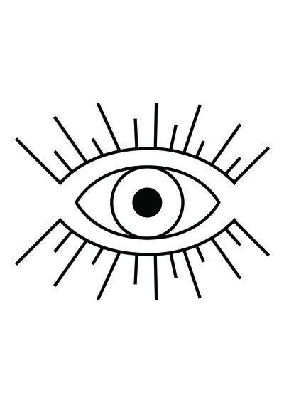 Illuminati Eye Art Print