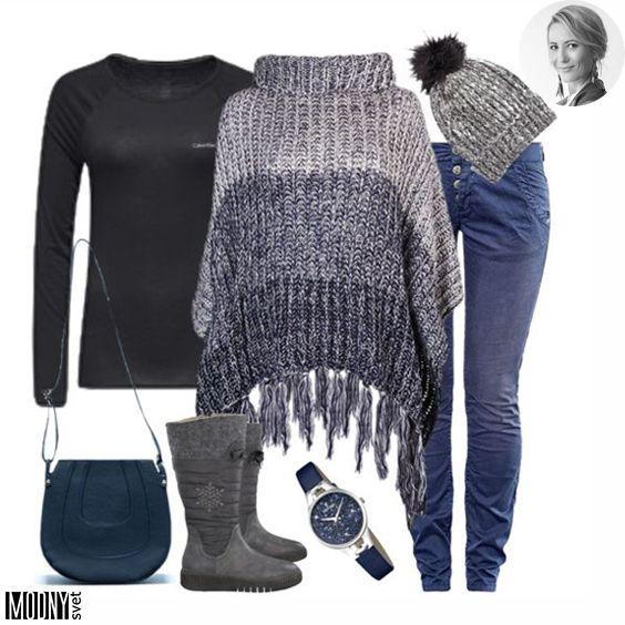 69cf8df77a8d2 Nezabudnite si pribaliť teplý sveter, alebo takéto štýlové pletené pončo so  strapcami ❤ Pohodlné vodeodolné čižmičky sú samozrejmosťou 😉 Viac módnych  ...