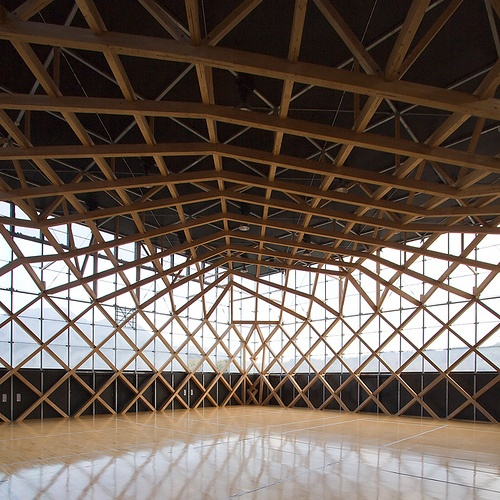 Geometric wood structure