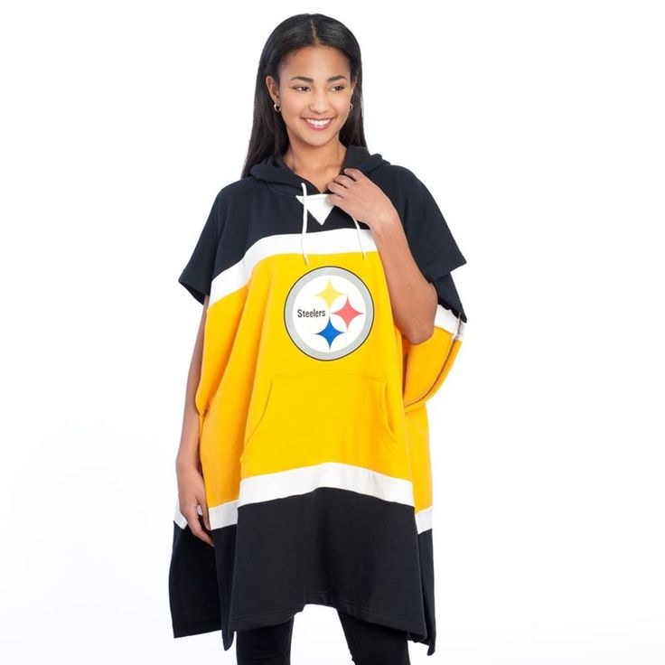Stay warm in this Pittsburgh Steelers Hoodie Poncho, perfect for all boys and girls.
