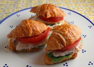 Mini Chicken Croissant Sandwiches are cute, easy to make, and delicious.: Mini Chicken Croissant Sandwiches