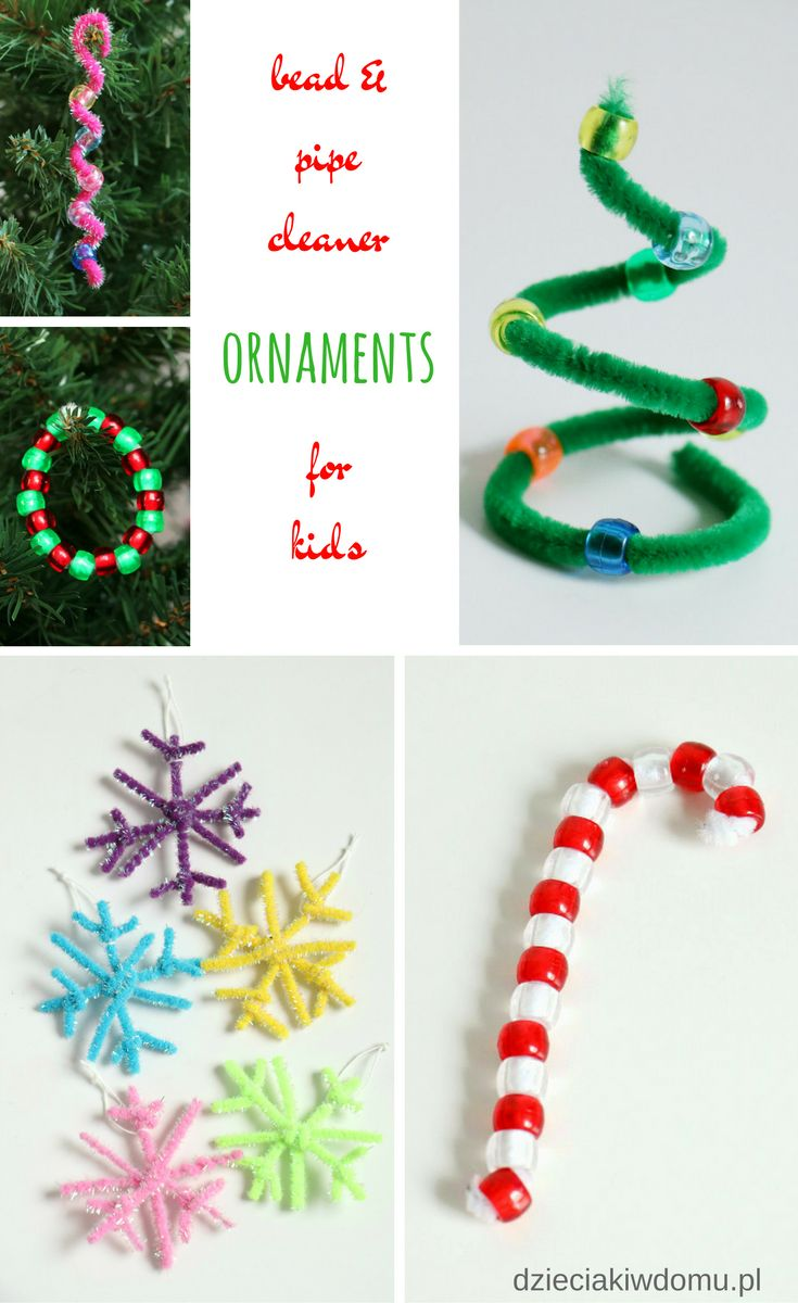 Bead and pipe cleaner ornaments for kids