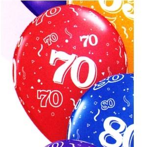 70th Latex Balloons