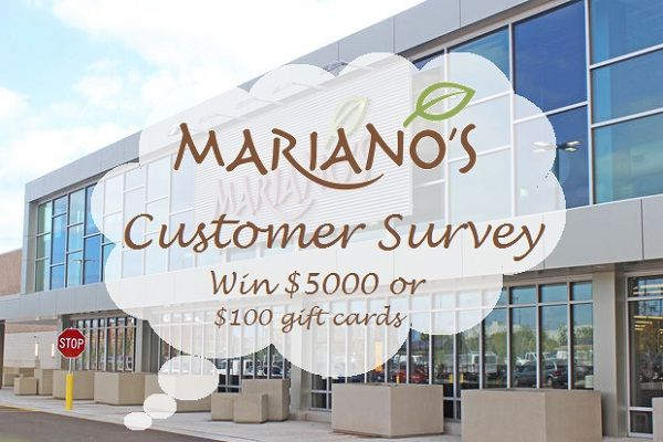c91a728591d Take Mariano s Experience Survey for a chance to win  5000 or  100 gift  card by a lucky draw.  Survey  Sweepstakes