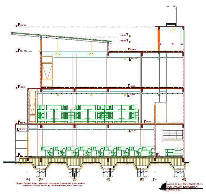 8 best bangunan publik images on pinterest islamic architecture desain rumah di surabaya type bangunan umum asrama putri nurul hayat potongan ccuart Gallery