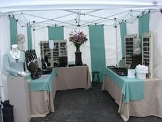 ... display, tent, display idea, craft fair, aqua, craft booth layout