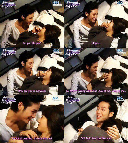 You're Beautiful. Park Shin Hye and Jang Geun Suk behind the scenes