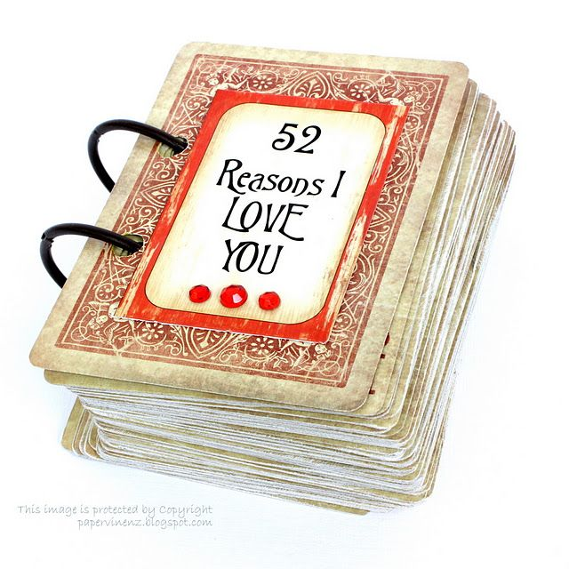 great valentines day gift idea! deck of cards- 52 reasons i love you