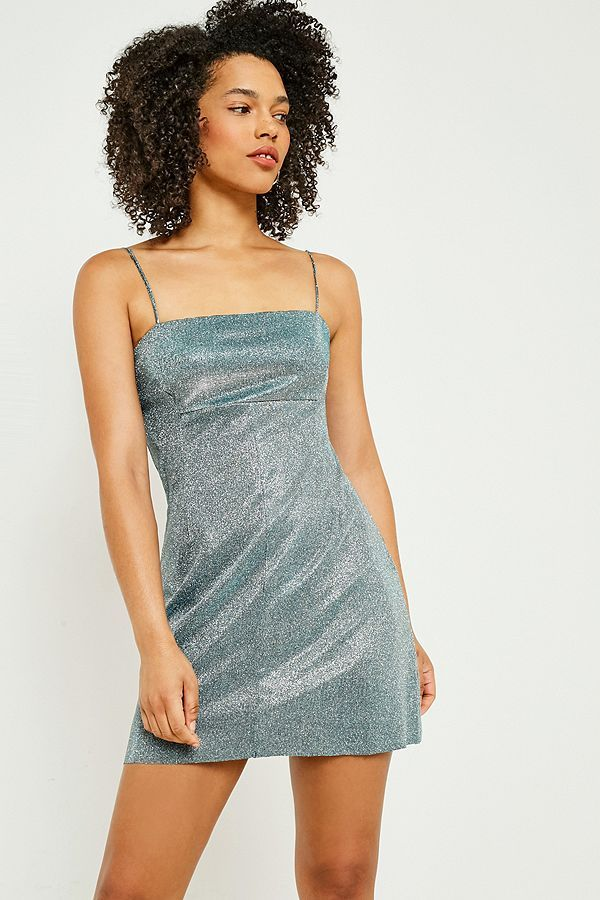 a201be4a7d Slide View  2  Pins   Needles Moonbeam Metallic Slip Dress