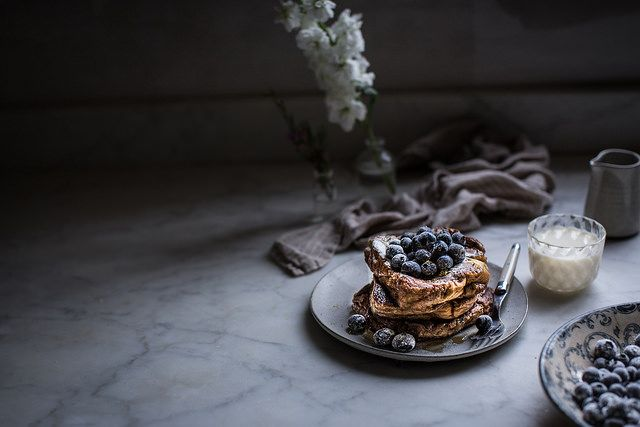 Local Milk | london fog french toast + sugared blueberries (sub with coconut sugar and use grain-free bread and honey)
