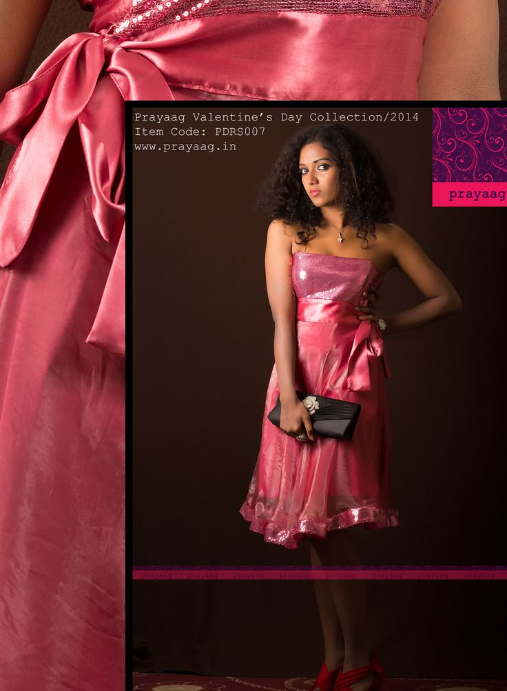 Onion pink strapless dress