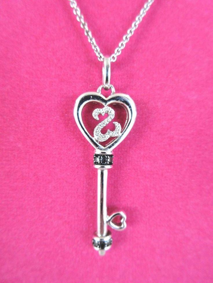 Jane Seymour JWBR Sterling Silver OPEN HEART KEY Pendant Necklace #JaneSeymour #Pendant