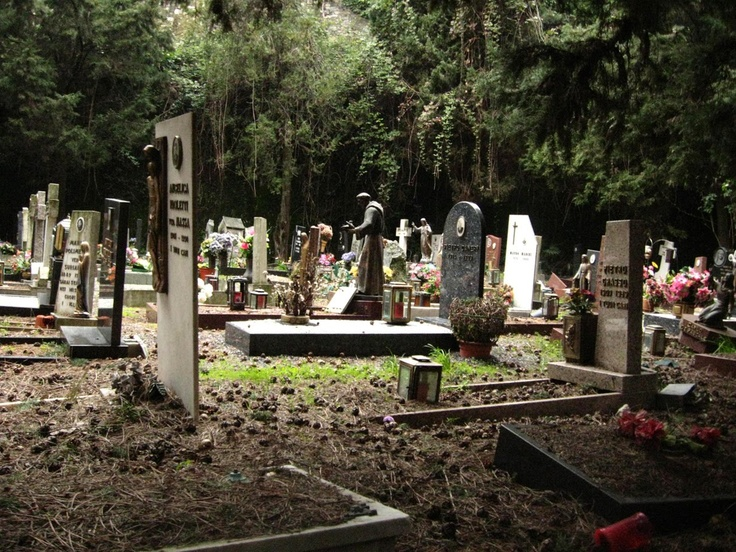Giant cemetary in Genova, Italy. (I took this picture and my sister posted it on her blog. That place was amazing. We spent hours there and didn't even see the whole thing).