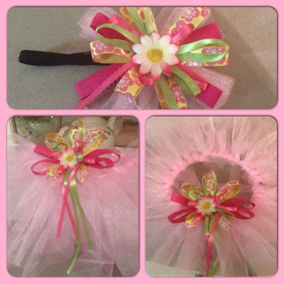 PICK YOUR COLORS tutu skirt, and head band set on Etsy, $18.00 CAD