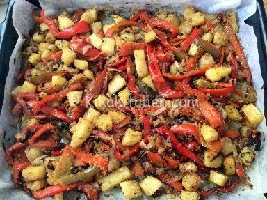 ricetta patate e peperoni gratinati