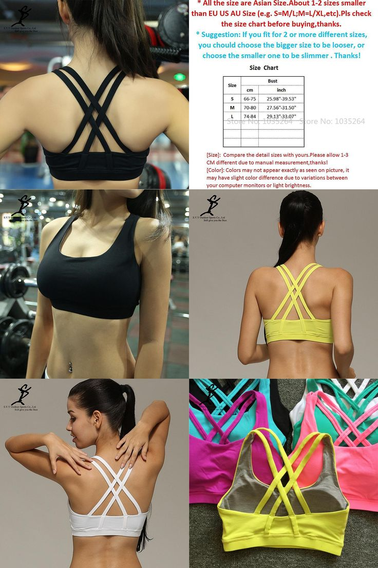 [Visit to Buy] Women Sports Running Bra New Shakeproof Gym And Fitness Push Up Padded Underwear Hot Quick Dry Yoga Workout Crop Tops #Advertisement
