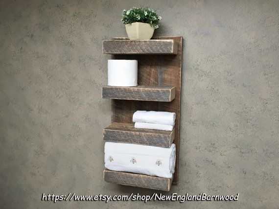 BATHROOM SHELF Rustic Bathroom Decor Rustic By NewEnglandBarnwood