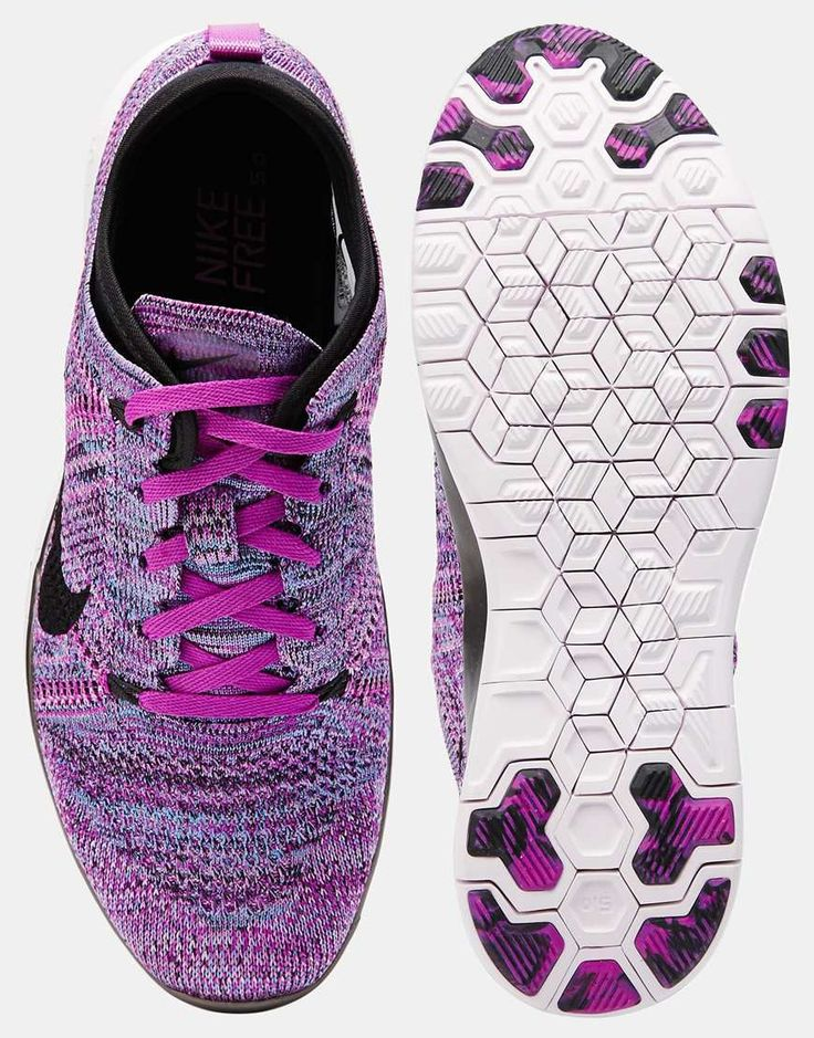 Image 3 of Nike Free TR Flyknit Purple Trainers