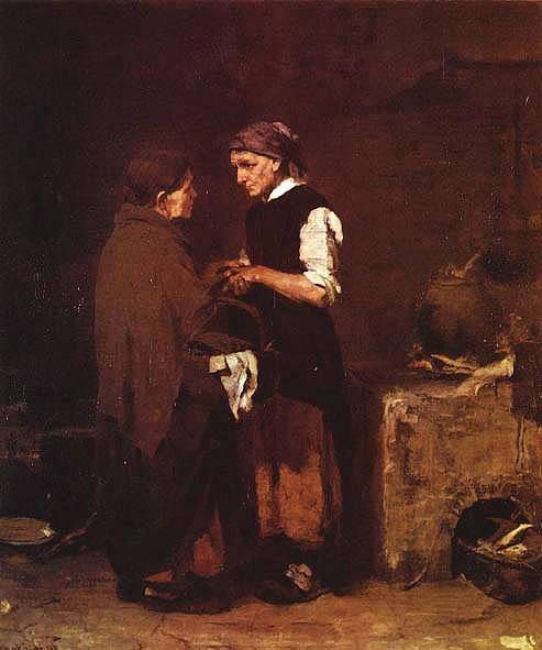 Munkácsy Mihály (1844-1900) - Búcsúzkodás - Magyar Nemzeti Galéria