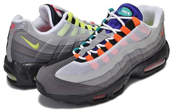 size 40 f70d9 88524 写真1 NIKE AIR MAX 95 OG QS GREEDY  BLACK   VOLT-SAFETY ORANGE  810374-078