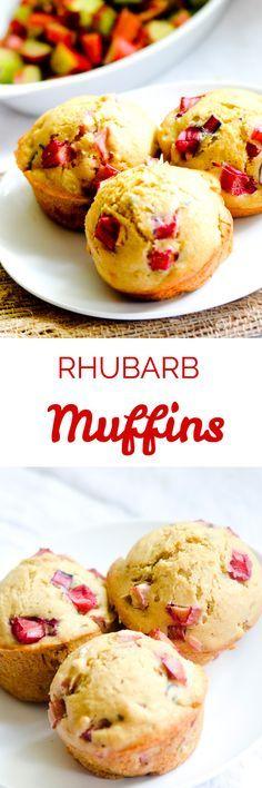 Easy Rhubarb Muffins - Recipe Diaries