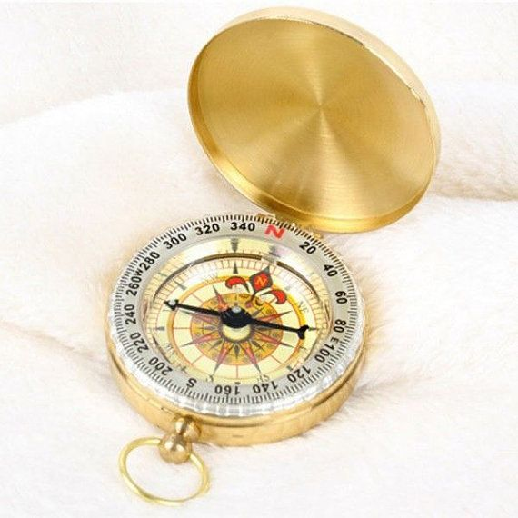 Gold BRASS Engraved BOY SCOUT Compass. Free by CMTImpressions