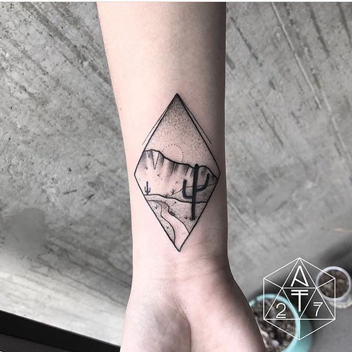 olio.tattoo Desert Tattoo by @2anthony7 from 27tattoostudio - Phoenix, AZ @2anthony7 #desert -- More at: https://olio.tattoo/tattoo-images/mentions:desert