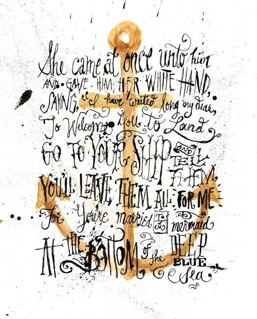 : Poems, Jon Contino, Mermaids, Anchors Quotes, Ships, Sailors, Design, Art Pieces, Deep Blue Sea