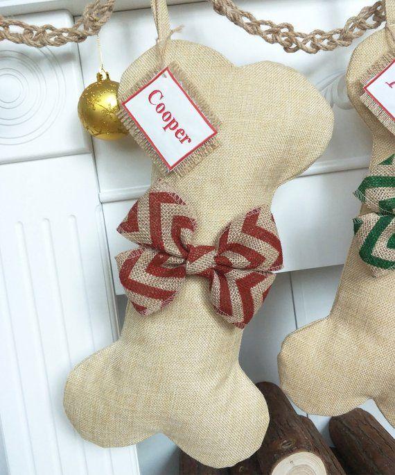 Handmade and Fully Lined Dog Bone Christmas Stocking
