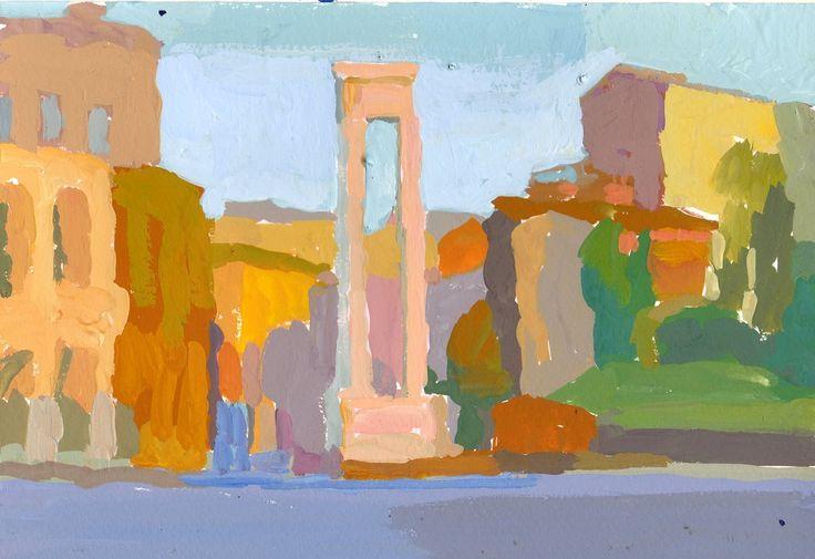 Roma 1 guache 18x26 cm