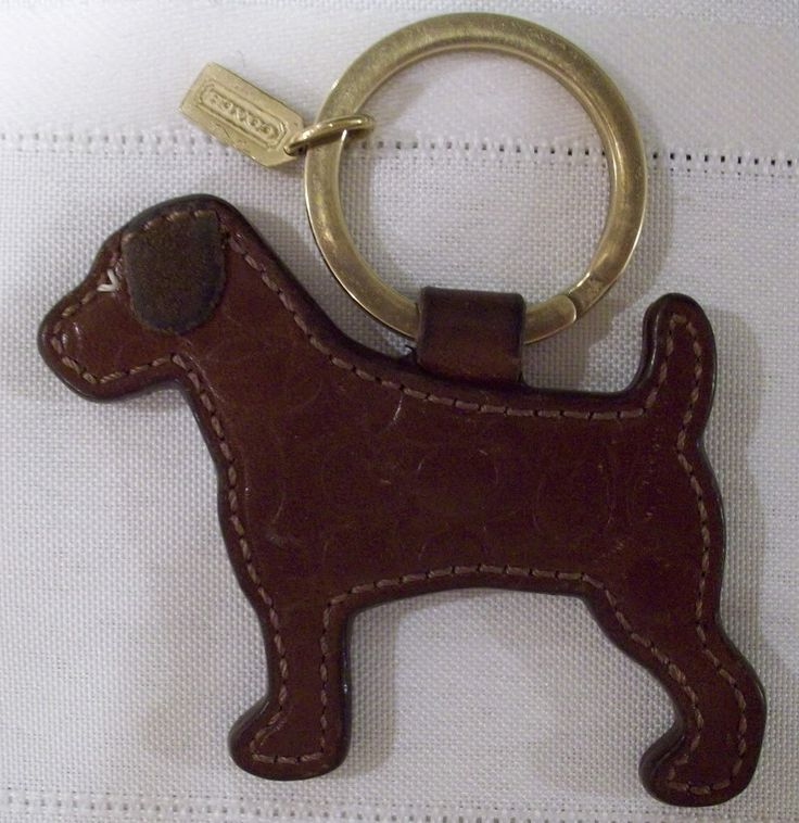 """Bonaza.com the Coach Exclusive Vizsla Keychain they released last year and it's 34.00 OBO listed as """"Coach Embossed Leather Dog Keychain Key Fob 92183 Used"""" I'm putting it on my keys so I am more than OK with the vintage look and would be replacing the gold ring with a silver one I have from my current keyring."""