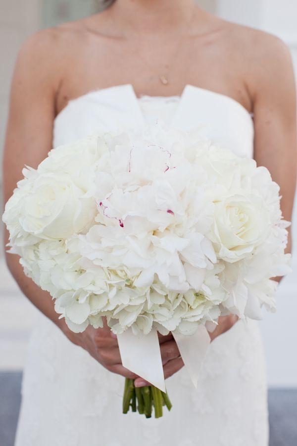 white peony bouquet | photo by Studio 222