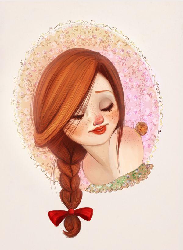 Female Character, Girl illustration, drawing / Personaggio femminile, illustrazione, disegno ragazza - by Diana Pedott
