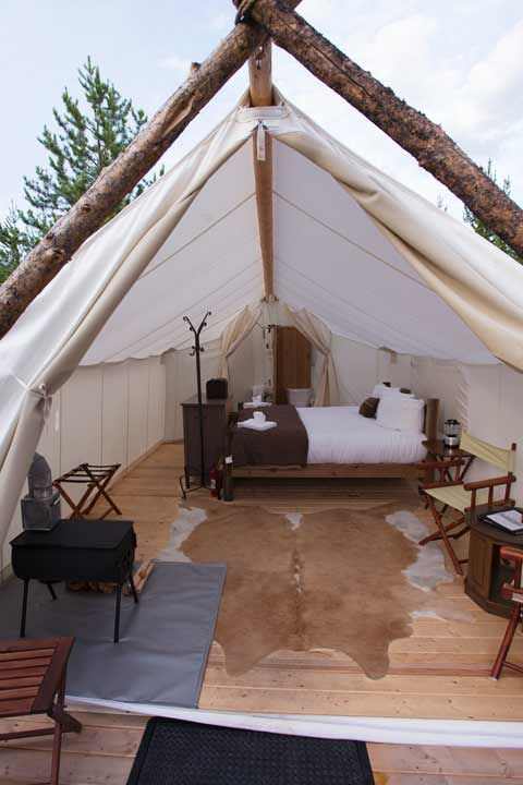 Glacier Under Canvas- glamping at Glacier National Park!