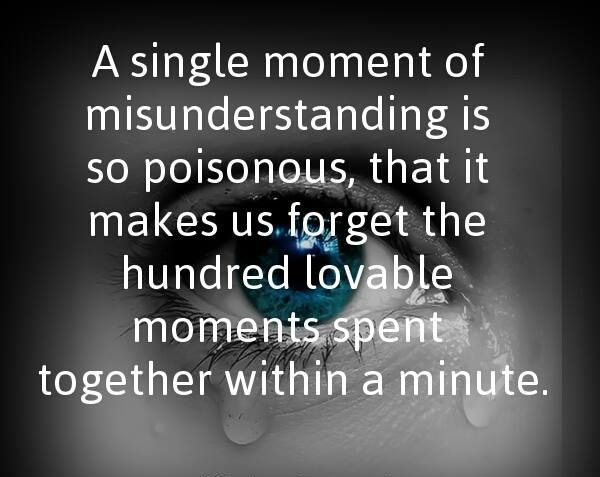 quotes for misunderstanding relationship