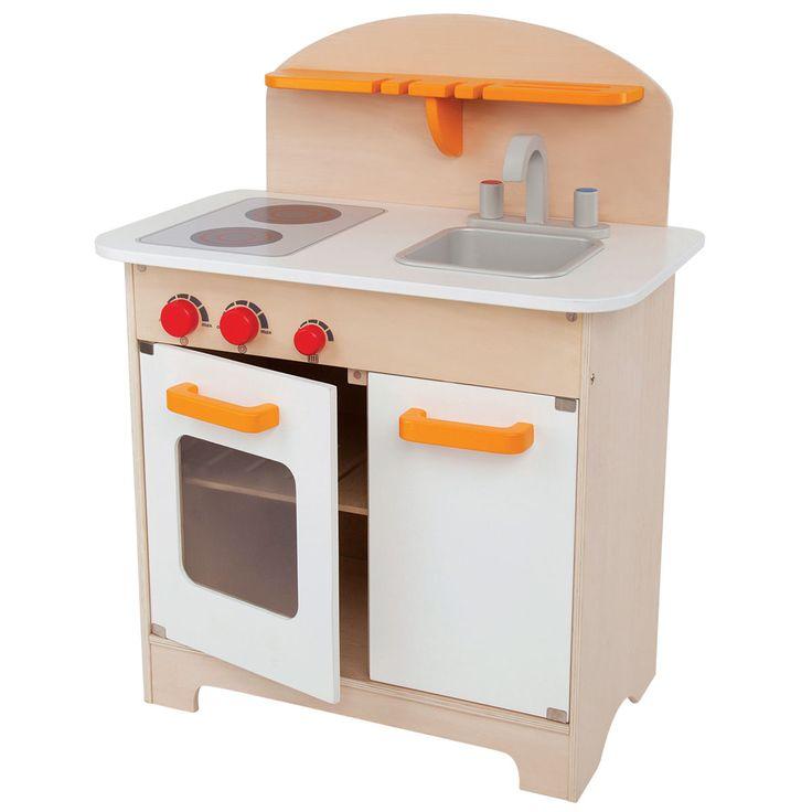 Hape Kinderküche E3100 aus Holz weiß  | Pirum-Holzspielzeuge.de